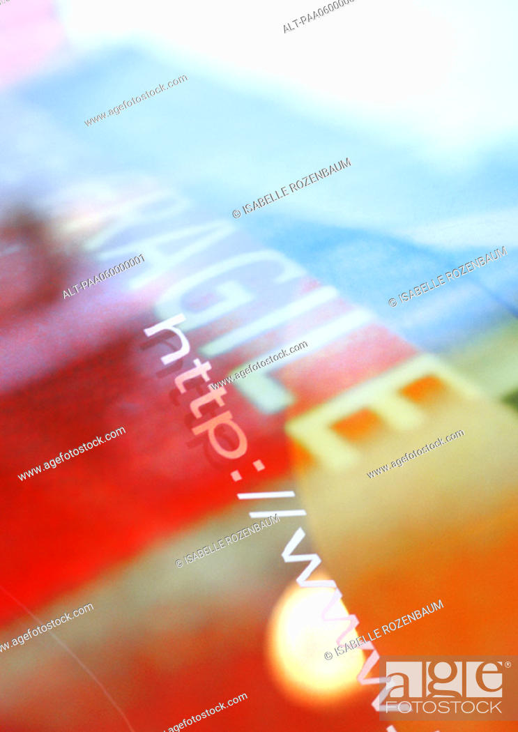 Stock Photo: Word fragile with internet address, composite, close-up.