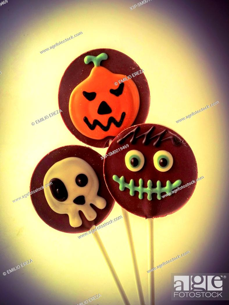 Stock Photo: Halloween's lollypops.