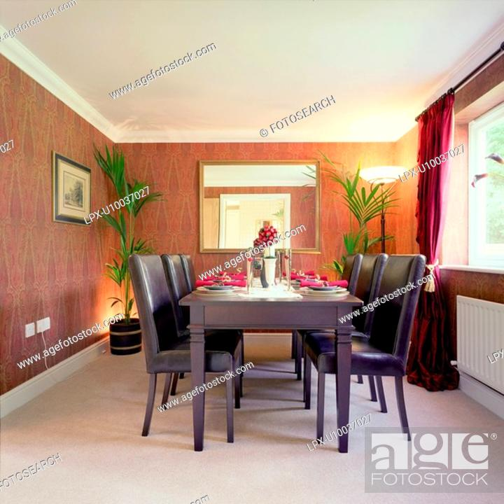Stock Photo: Dining room in Modern house.