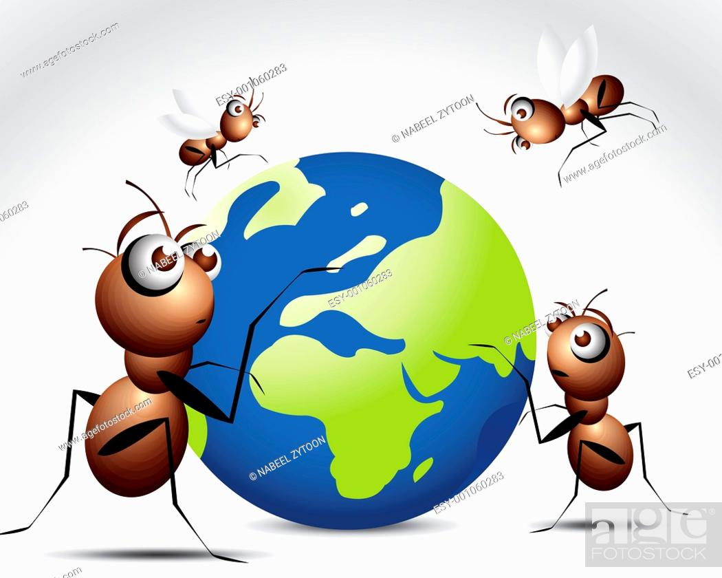Stock Photo: Ant Character.
