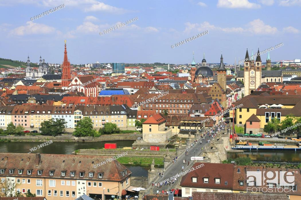 Stock Photo: Wurzburg, Bavaria, Germany.