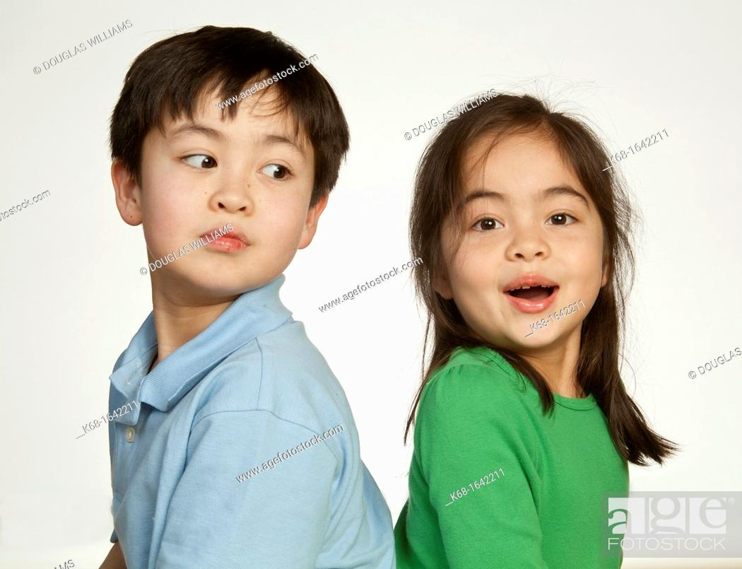 Stock Photo: a brother and sister.