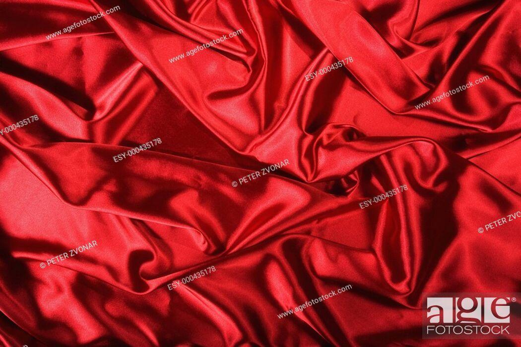 Stock Photo: Elegant and soft red satin background.