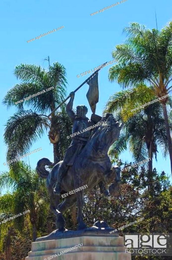 Stock Photo: El Cid on horseback statue, Balboa park.