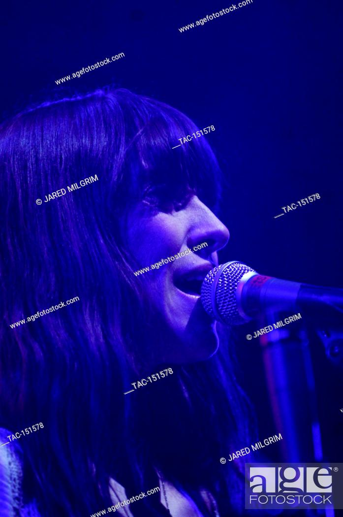 Stock Photo: Feist performs at the 2007 KROQ Almost Acoustic Christmas at the Gibson Ampitheatre in Universal City.