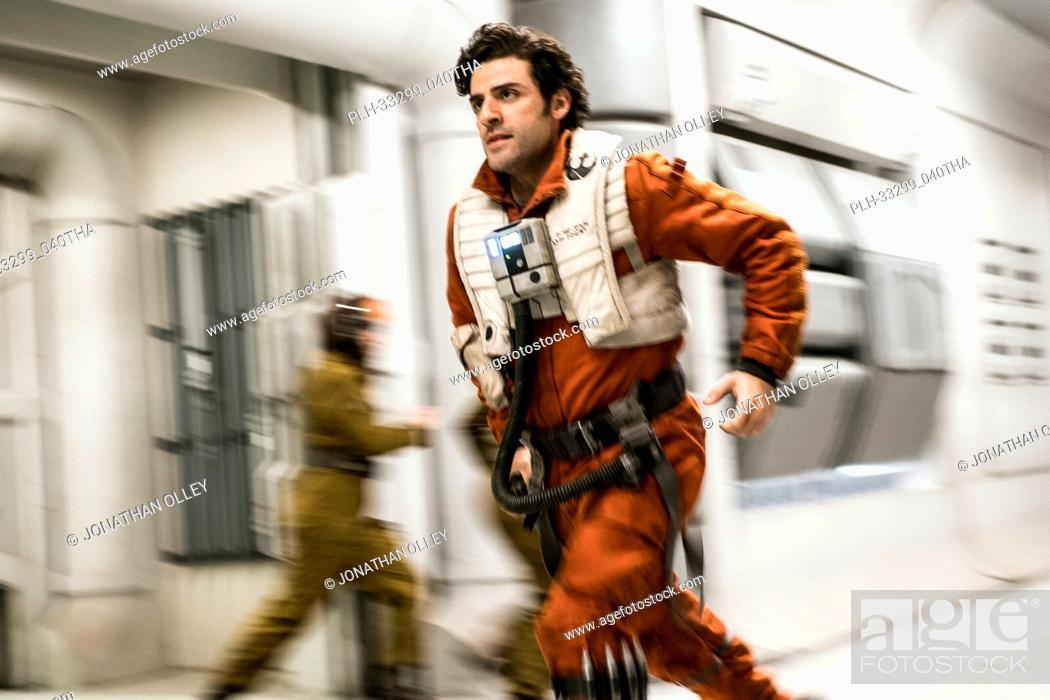 "Stock Photo: """"""Star Wars: The Last Jedi"""" (2017) Poe Dameron (Oscar Isaac) Lucasfilm Ltd."