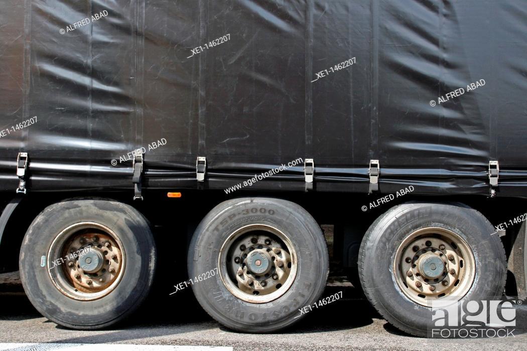Stock Photo: truck wheels.