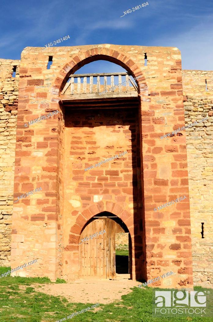 Stock Photo: Castle of Molina de Aragon, Spain.