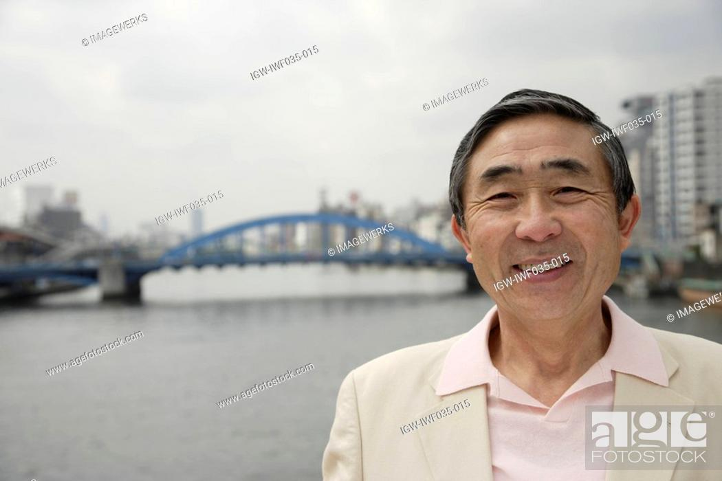 Stock Photo: Portrait of a smiling senior man.
