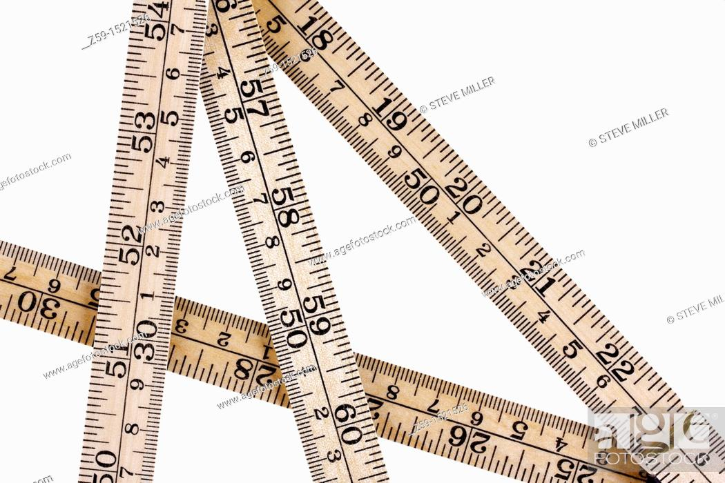Stock Photo: ruler with metric and inch system.