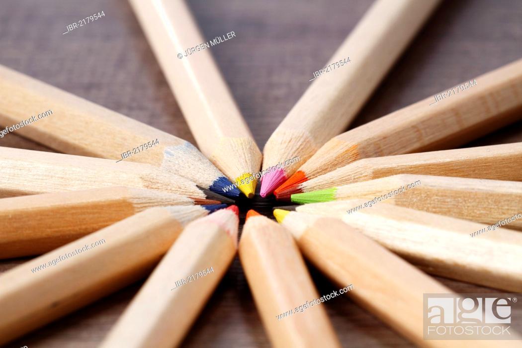 Stock Photo: Coloured pencils.