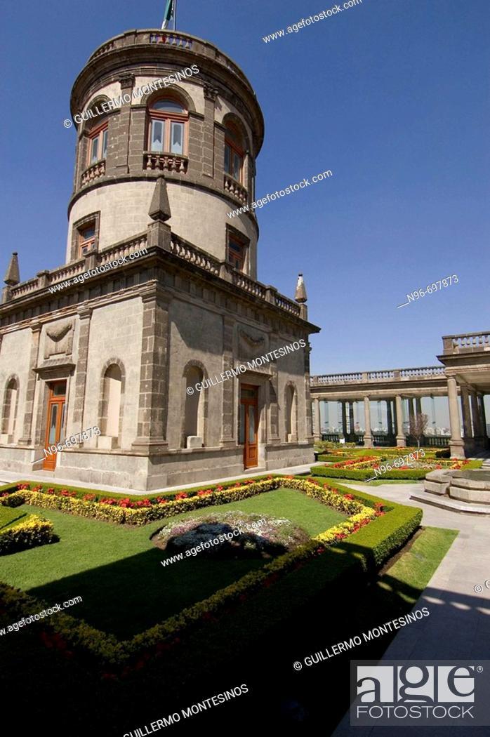 Stock Photo: Castle of Chapultepec, Mexico City. Mexico DF, Mexico.