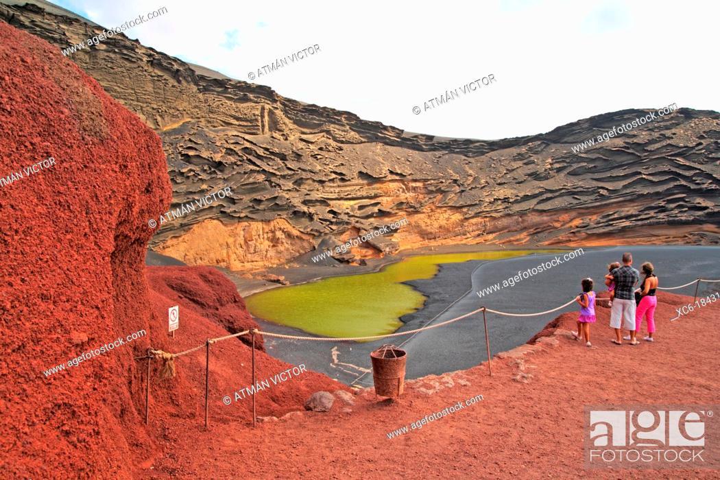 Stock Photo: Lake Clicos Lanzarote.