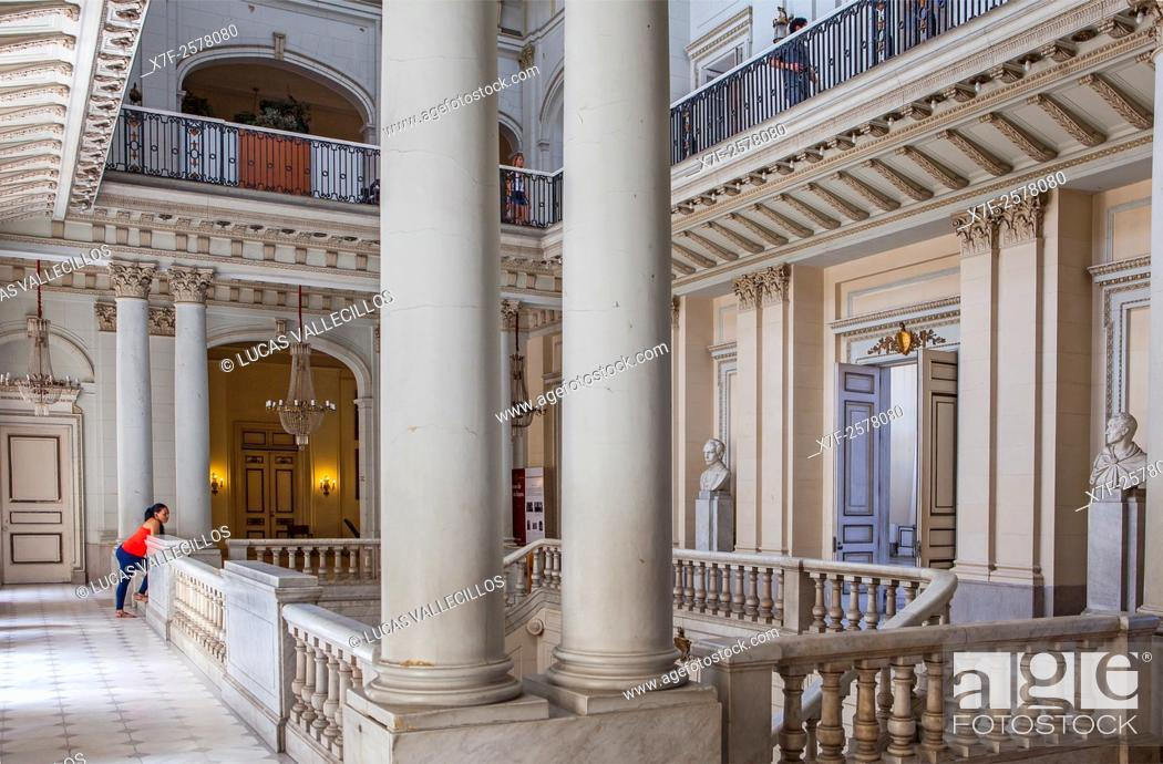 Stock Photo: View Of The Former Cuban Presidential Palace Interiors, Now Is  The Museum