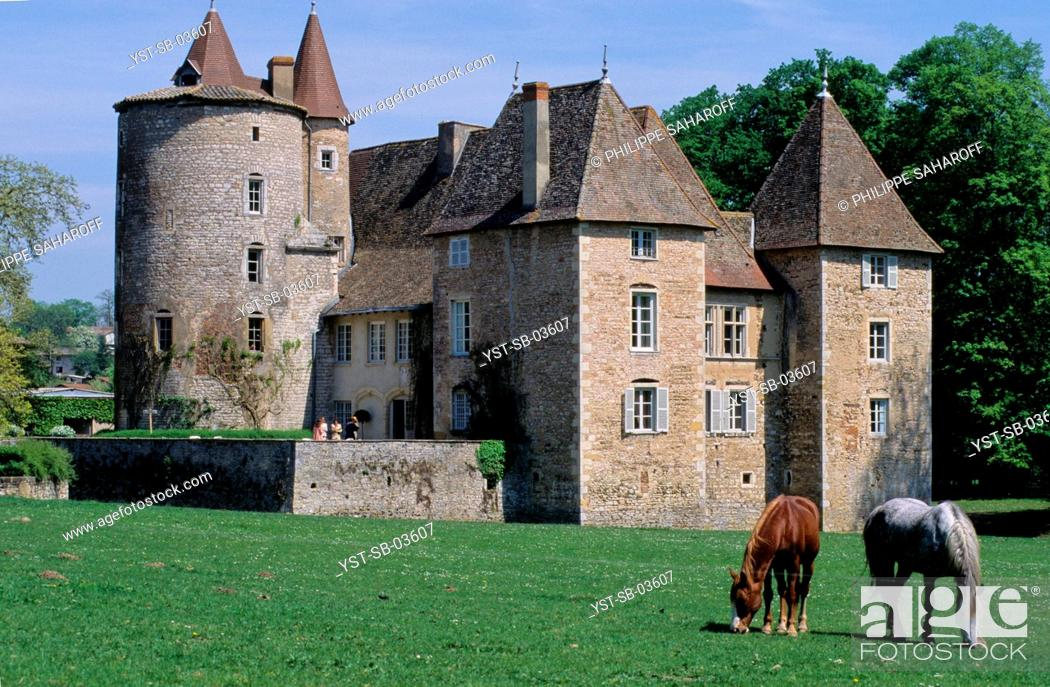 Stock Photo: Outdoors, castle, Messimy, Rhône-Alpes, France.