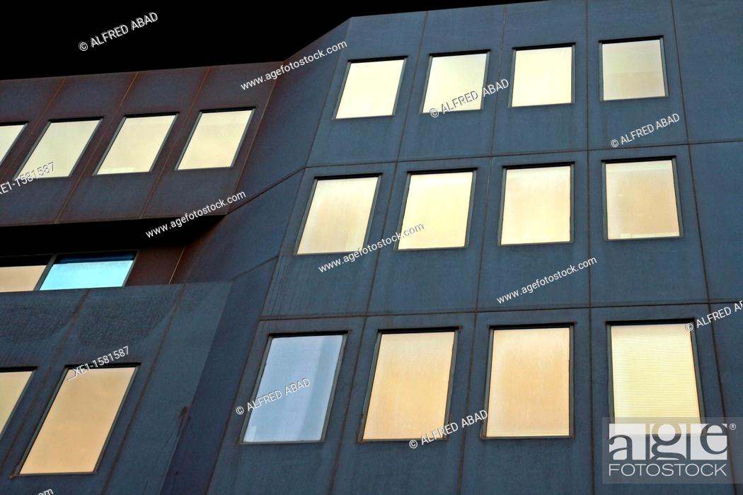 Stock Photo: office building on Balmes Street, Barcelona, Catalonia, Spain.