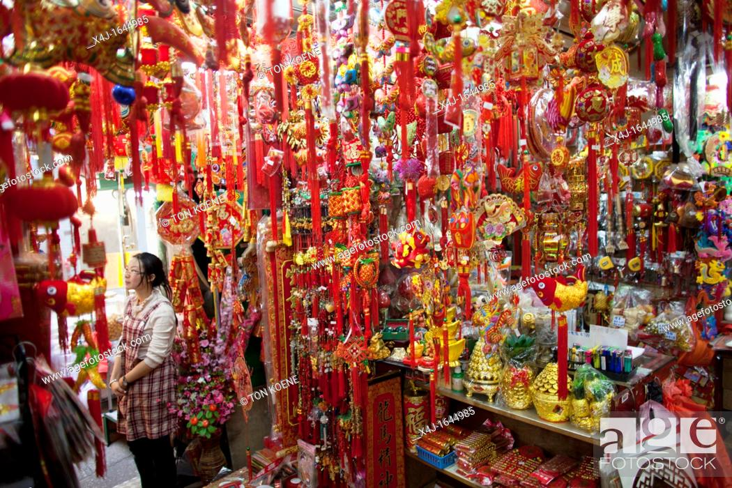 Stock Photo: market in Hongkong.