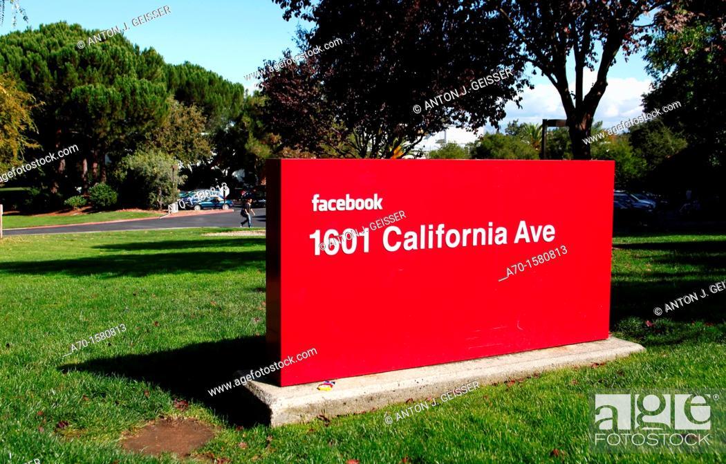 Stock Photo: Facebook palo alto USA California.