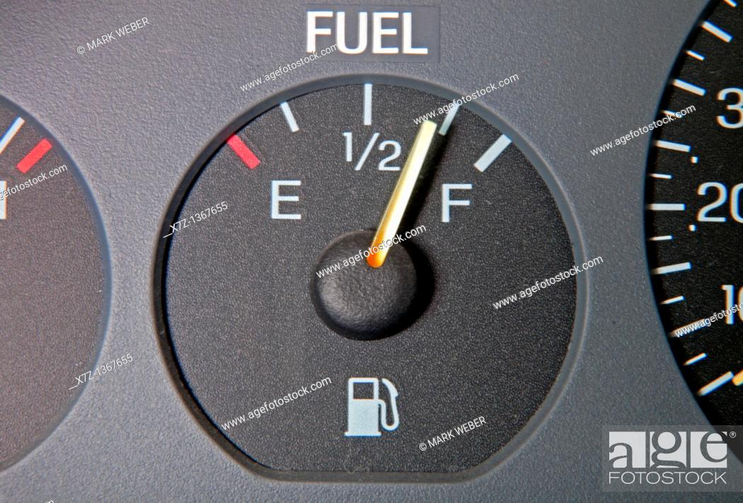 Stock Photo: Fuel Gauge.
