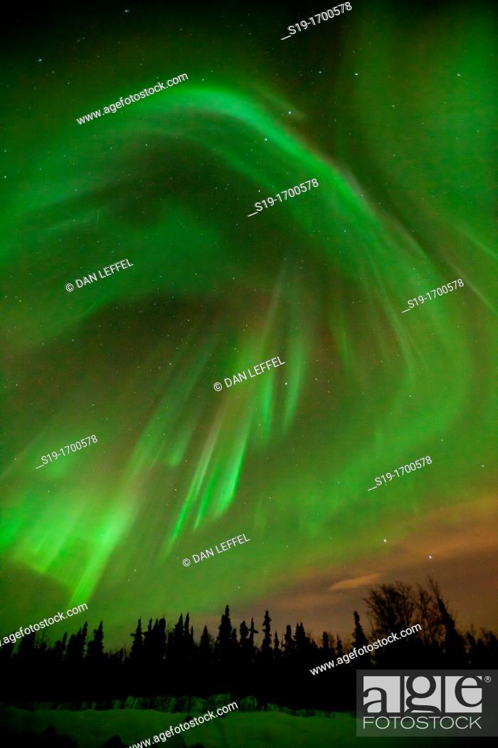 Stock Photo: Aurora Borealis Northern Lights.