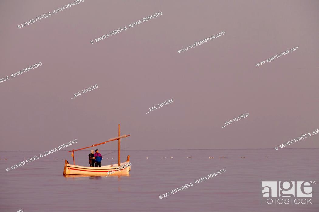Stock Photo: Fishermen in Illes Medes - Medes Island-, Costa Brava, Girona, Spain.