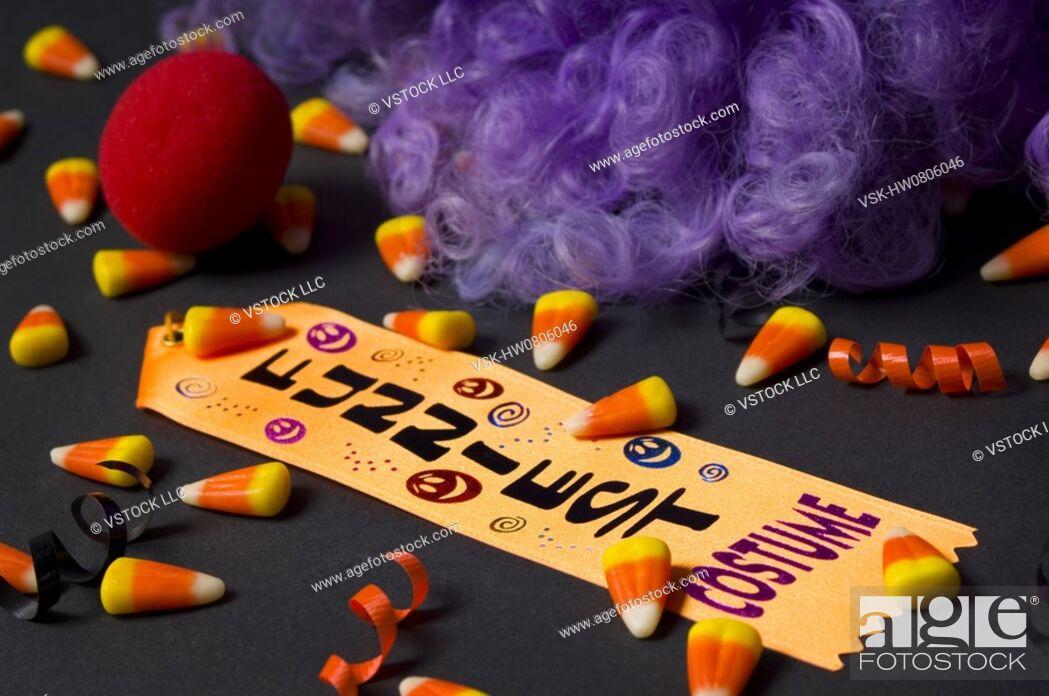 Stock Photo: Funniest Halloween costume award.
