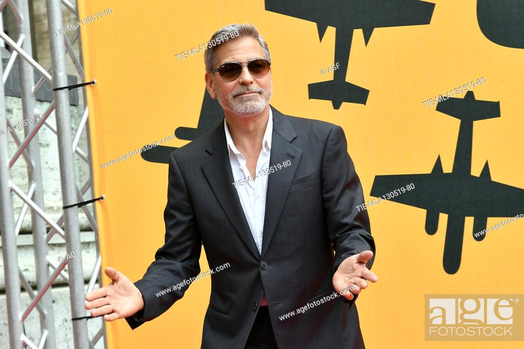 Stock Photo: George Clooney during 'Catch-22' TV show photocall, Rome, Italy - 13 May 2019.