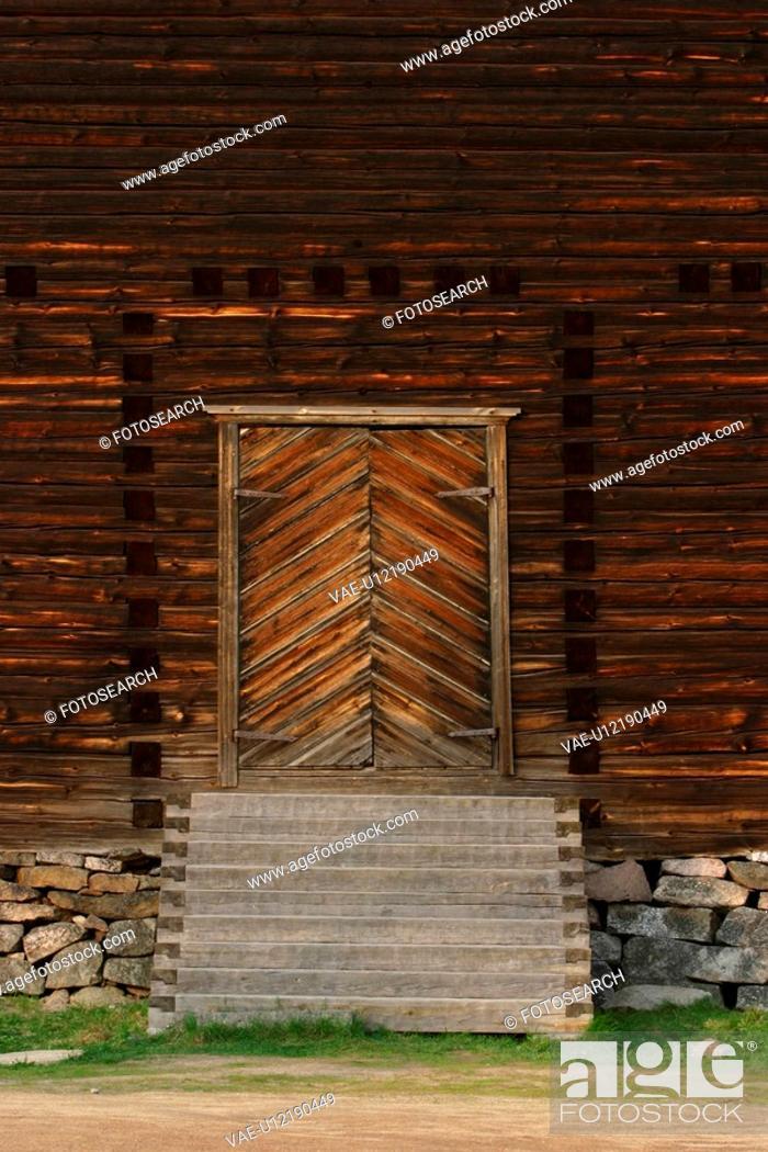 Stock Photo: close-up, door, doorway, woodwork, surface, house.
