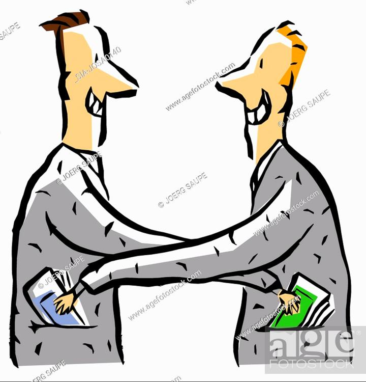 Imagen: Two men bribing.