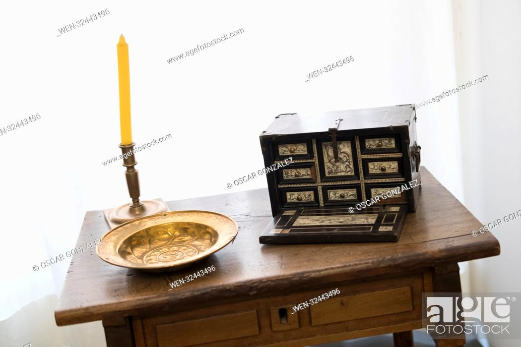 "Stock Photo: National Museum of Decorative Arts of Madrid. illustrates the evolution of the so-called """"industrial arts"""" (furniture, ceramics and glass, textiles, etc."