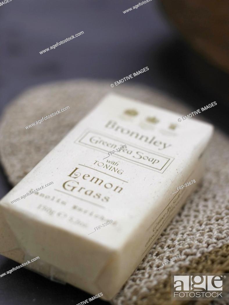 Stock Photo: lemon grass soap.