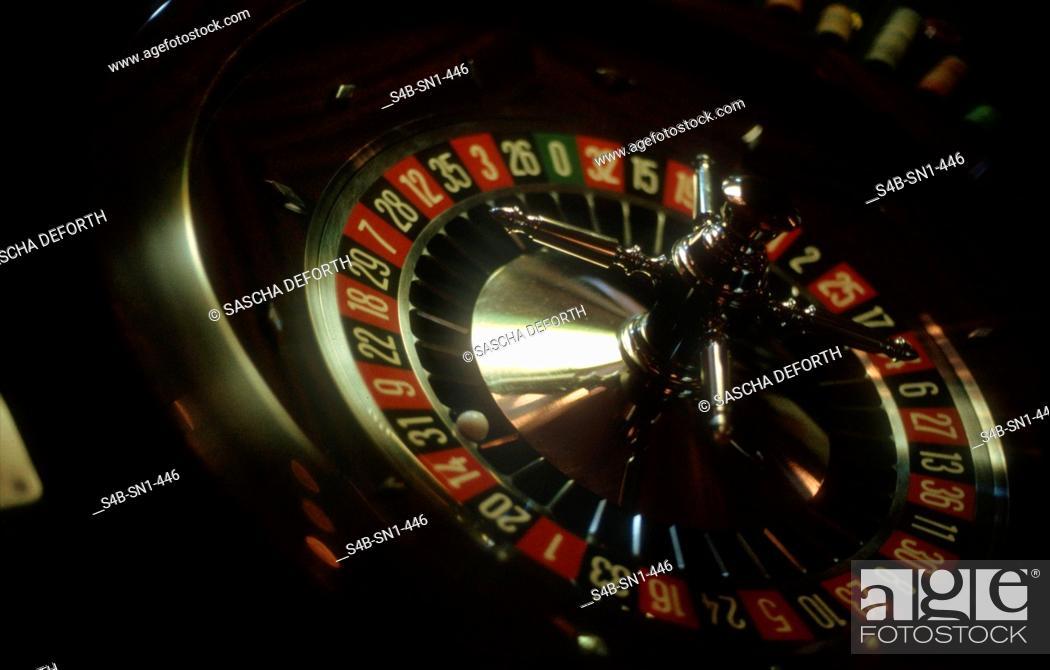 Stock Photo: Roulette - Gambling Casino - Wiesbaden - Hesse - Germany.