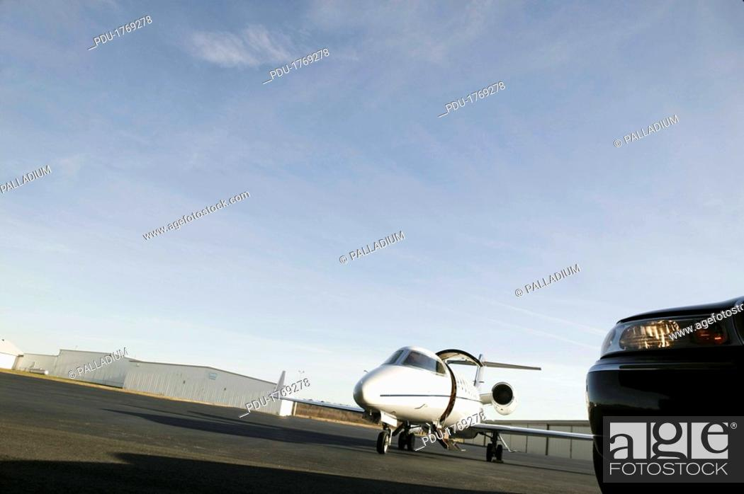 Stock Photo: Airplane outdoors at airport.