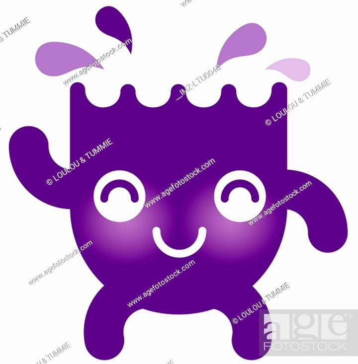 Stock Photo: A cute Aquarius water character.