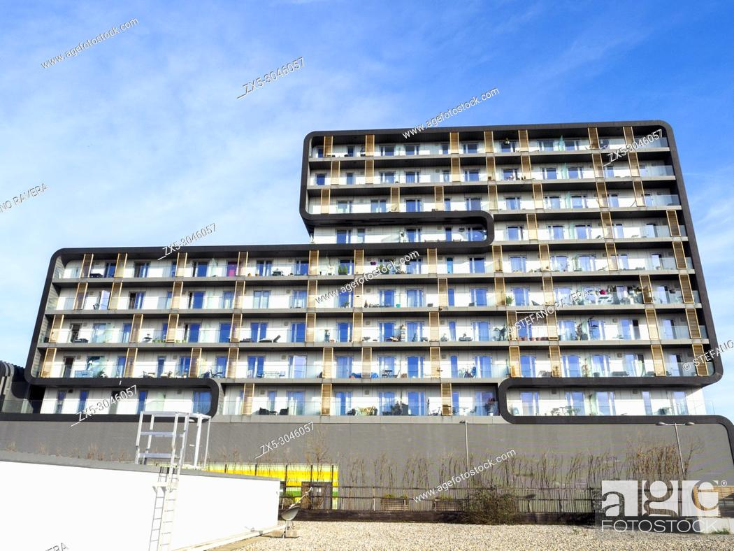 Stock Photo: Woolwich Central Modern apartments building in Woolwich - South East London, England.
