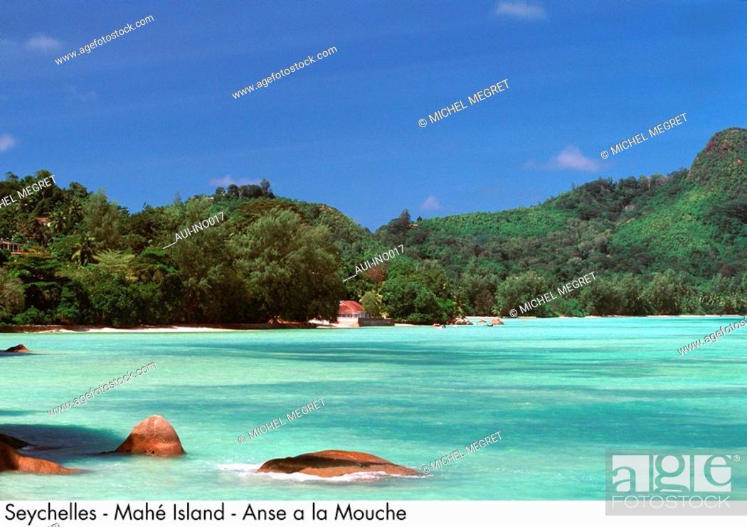 Stock Photo: Seychelles - Mahe Island - Anse a la Mouche.