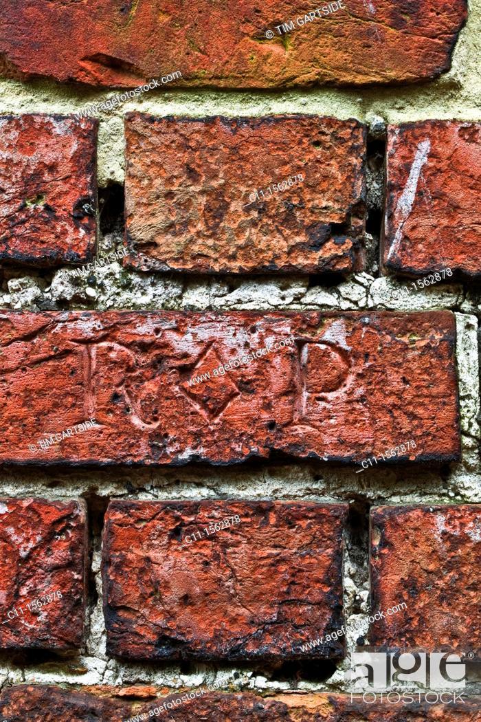 Stock Photo: brick wall detail , sandwich, kent, england, uk, europe.