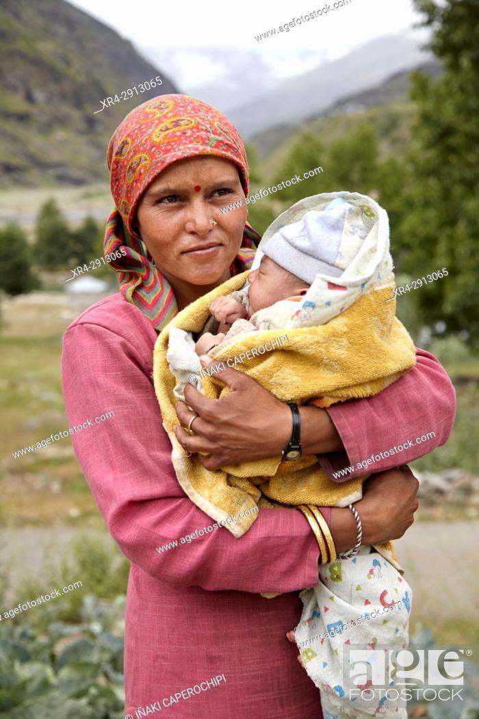 Stock Photo: Portraits of local people in Rothang Mountain Pass , Manali - Leh Road, Himachal Pradesh, India.