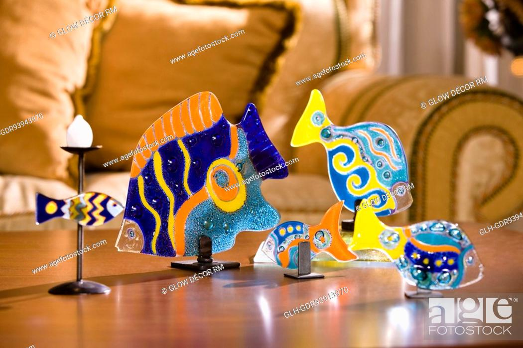 Photo de stock: Close-up of showpieces on a table.