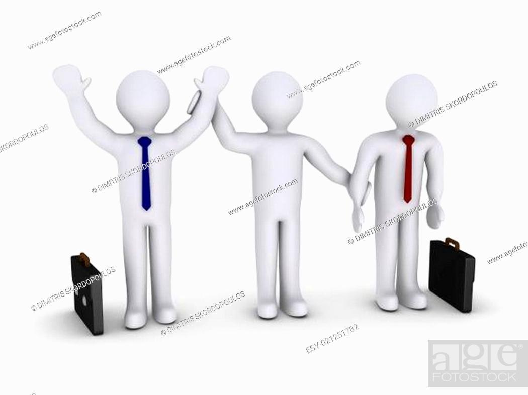 Stock Photo: Winner amongst businessmen.