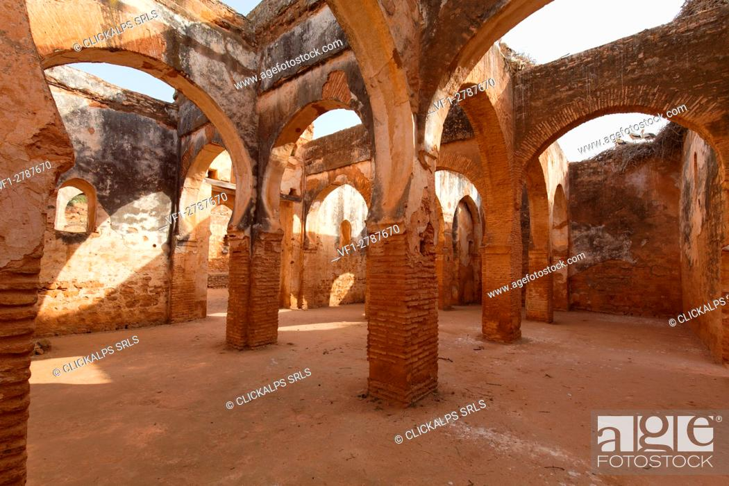 Stock Photo: North Africa,Morocco,Rabat district. Archaeological site Chella.