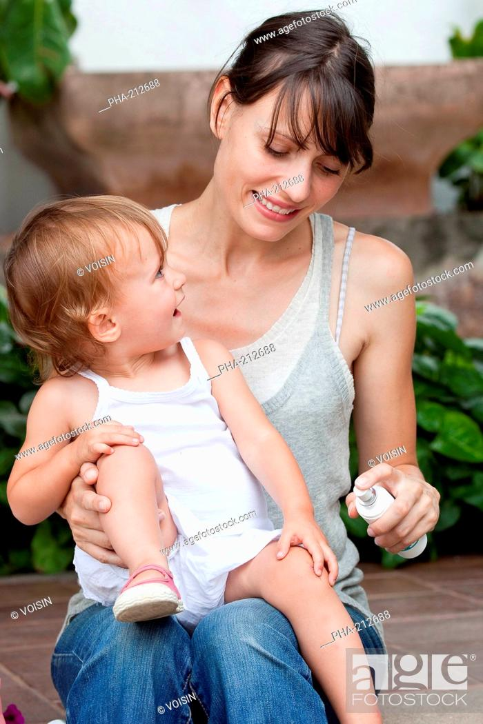 Mother with her 20 months old baby, Stock Photo, Picture And Rights