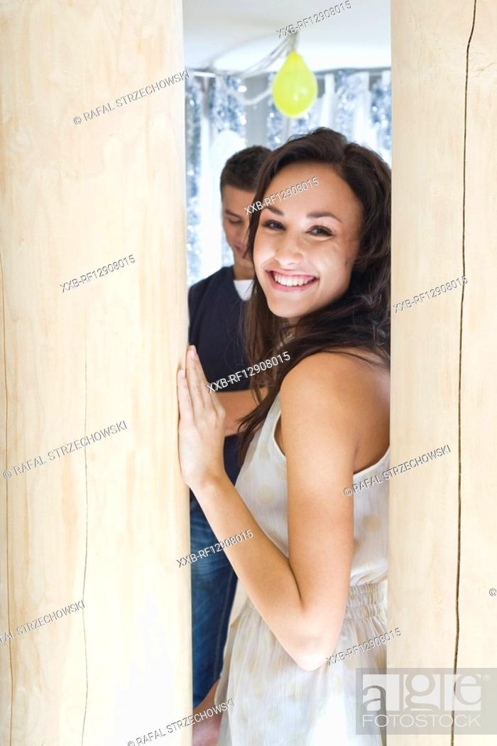 Stock Photo: sexy woman at party.