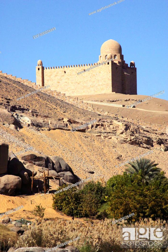Stock Photo: Aga Khan mausoleum in Aswan. Egypt.