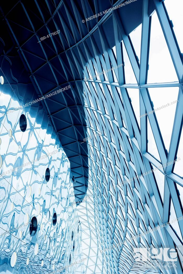 Photo de stock: Roof design, MyZeil shopping centre, Frankfurt am Main, Hesse, Germany.