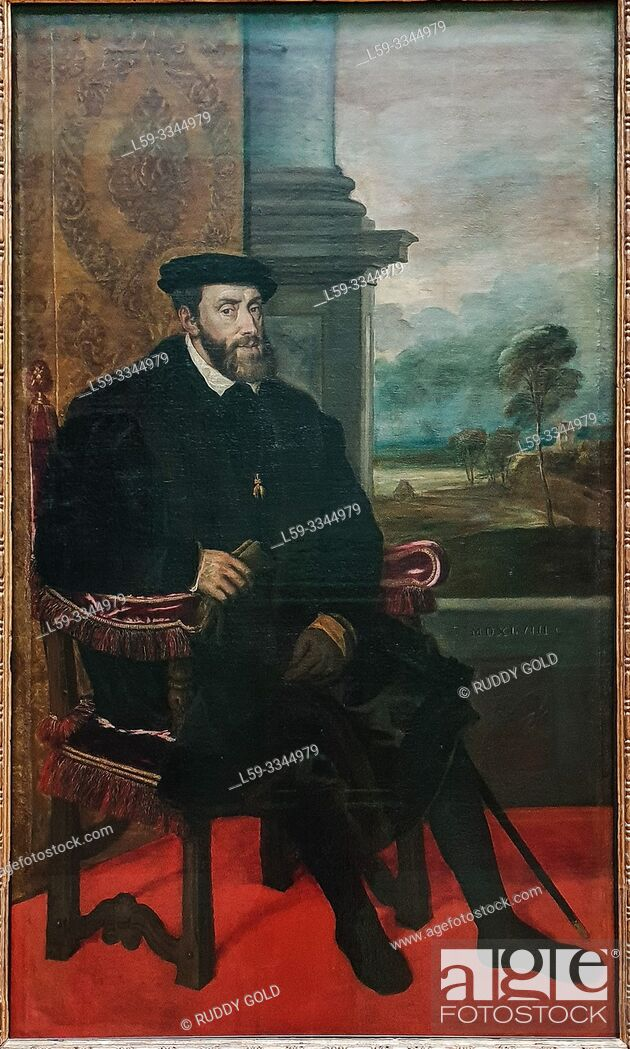 Imagen: 'The Portrait of Charles V', 1548, by Tizian (1485/90-1576).
