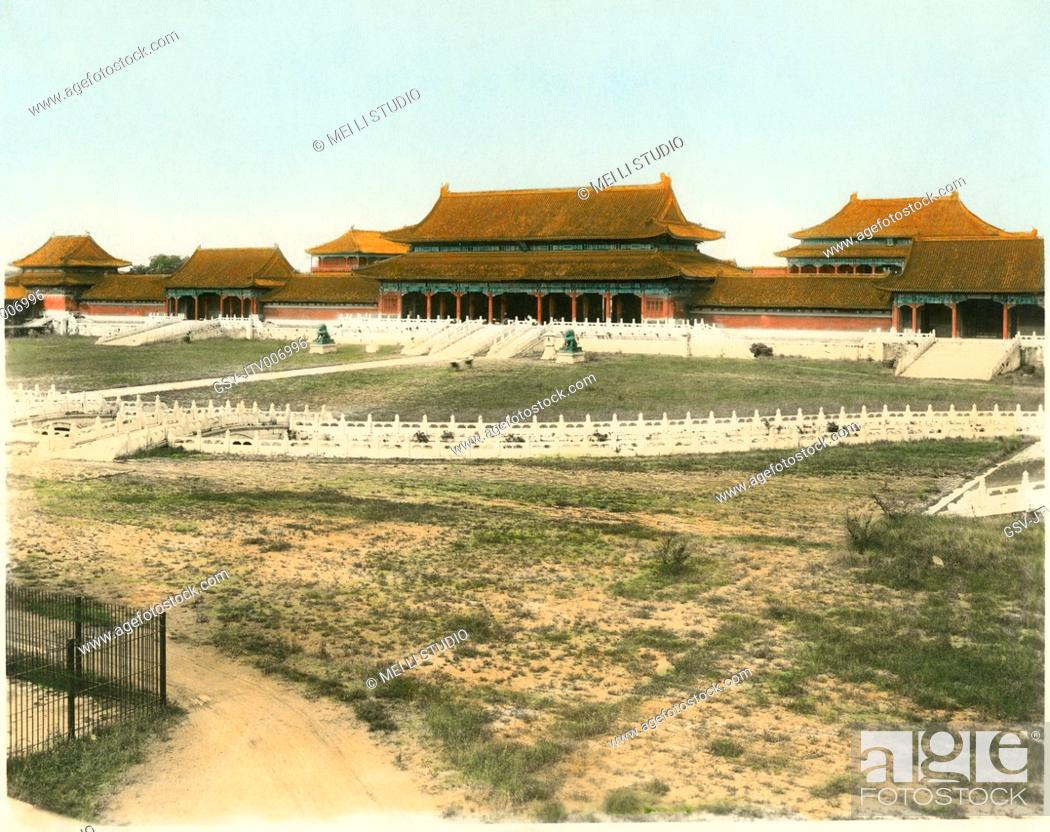 Stock Photo: Summer Palace, Beijing, China, circa 1930.