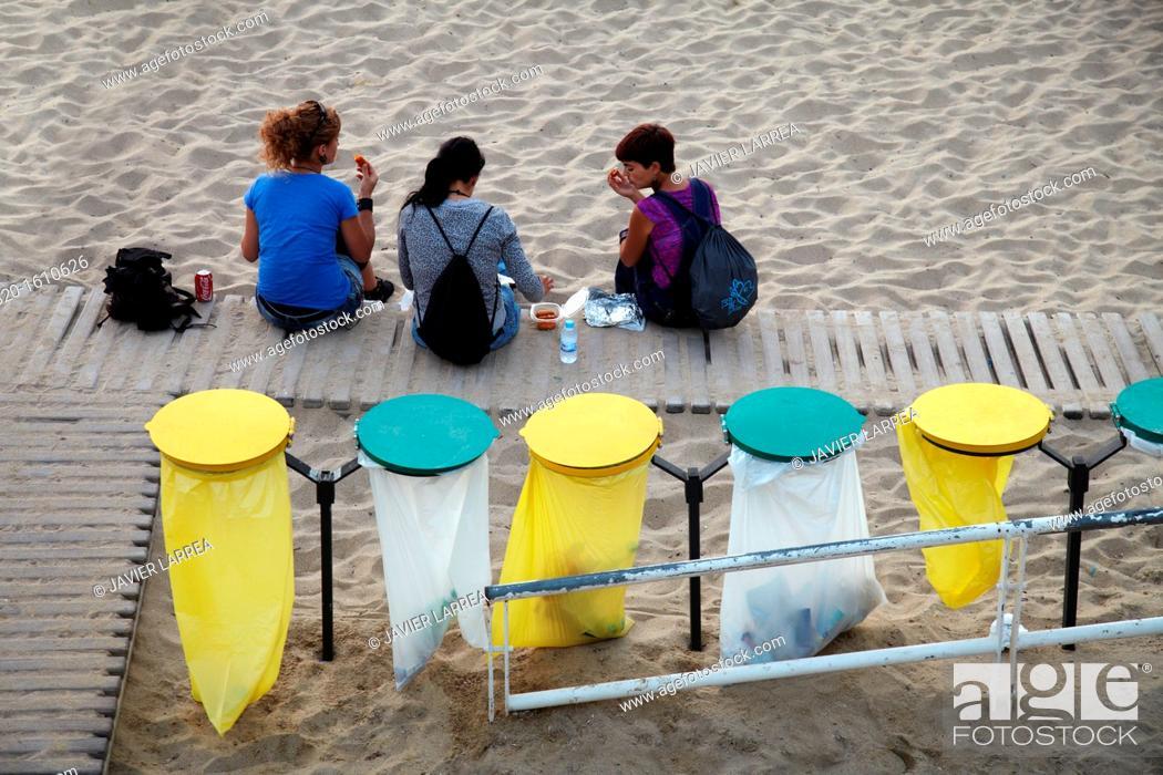 Stock Photo: Zurriola Beach, Donostia, San Sebastian, Gipuzkoa, Basque Country, Spain.