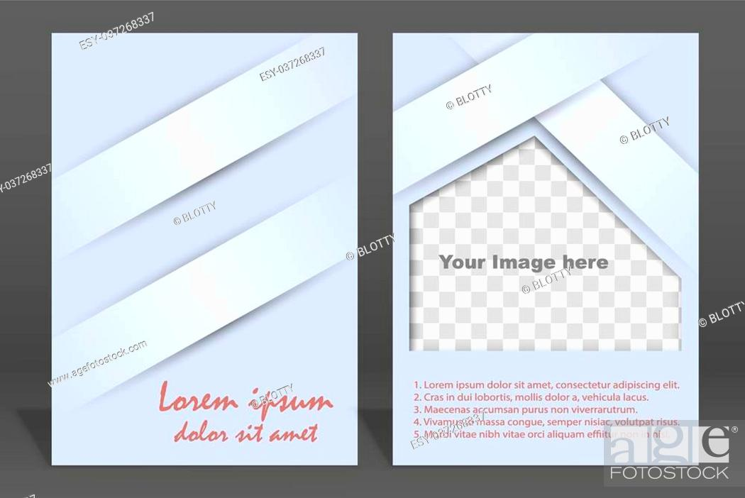 Stock Vector: Vector brochure or magazine cover template. Illustration.