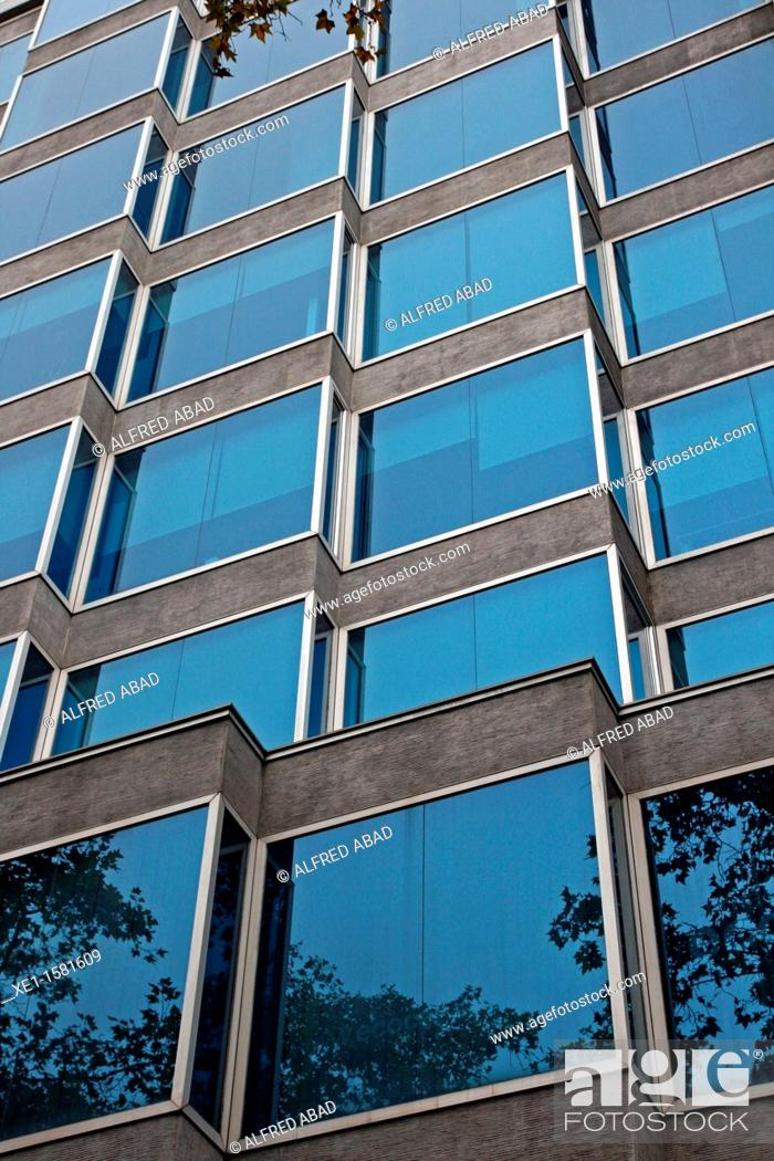 Stock Photo: offices, Windsor's building, Diagonal avenue, Barcelona, Catalonia, Spain.
